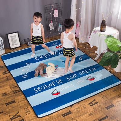 2018新款优悠生活地垫野餐垫爬爬垫防滑垫儿童垫 150*190cm 小鲸鱼