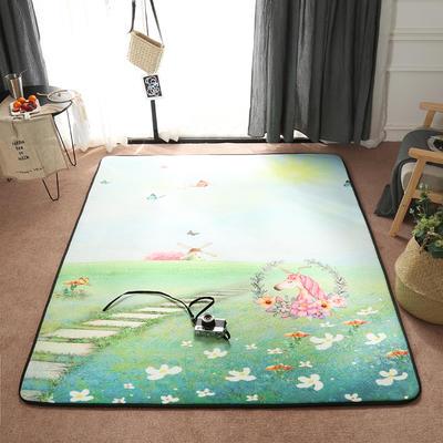 2018新款优悠生活地垫野餐垫爬爬垫防滑垫儿童垫 150*190cm 远方