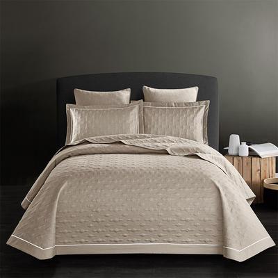 2018新款全棉斜纹床盖三件套(波尔多系列) 245*250 波尔多-都市驼
