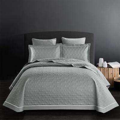 2018新款全棉斜纹床盖三件套(波尔多系列) 245*250 波尔多-贵族灰