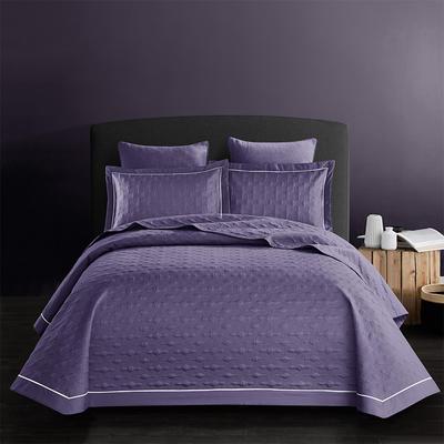 2018新款全棉斜纹床盖三件套(波尔多系列) 245*250 波尔多-浪漫紫