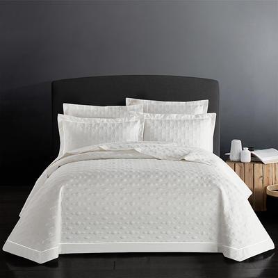 2018新款全棉斜纹床盖三件套(波尔多系列) 245*250 波尔多-情迷白