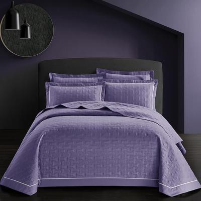全棉斜纹床盖三件套 245*250 唐顿-浪漫紫