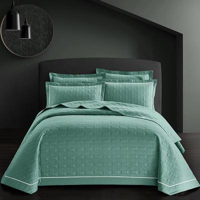 全棉斜纹床盖三件套 245*250 唐顿-森林绿