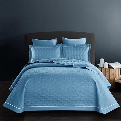 全棉斜纹床盖三件套 245*250 波尔多-冰川蓝