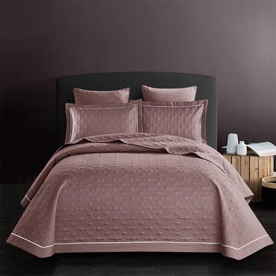 全棉斜纹床盖三件套 245*250 波尔多-魅力豆沙