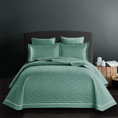 全棉斜纹床盖三件套 245*250 波尔多-森林绿