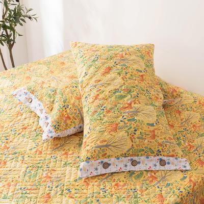 2020新款全棉印花夹棉绗绣系列单枕套 48cmX74cm/对 斑比