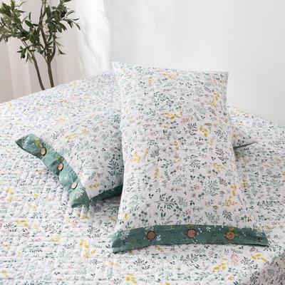 2020新款全棉印花夹棉绗绣系列单枕套 48cmX74cm/对 田园风光