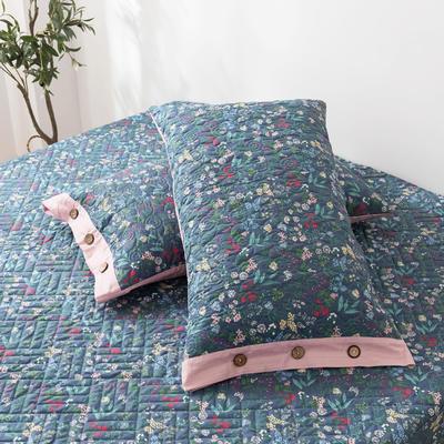 2020新款全棉印花夹棉绗绣系列单枕套 48cmX74cm/对 向阳花开