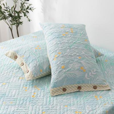 2020新款全棉印花夹棉绗绣系列单枕套 48cmX74cm/对 嫣然