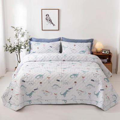 2020新款全棉印花夹棉绗绣系列单床盖床盖三件套 245*250cmcm单床盖 狂欢乐园