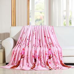 350g法莱绒毛毯 120*200 cm 十里桃花