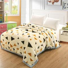 香港红蜻蜓 拉舍尔毛毯 160X210cm 时尚三角