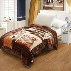 香港红蜻蜓 拉舍尔学生毯 150X200cm 顽皮狗