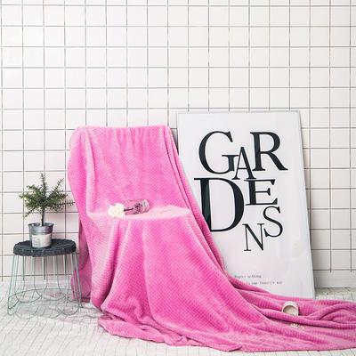 月半弯2017贝贝绒四季毯三角针 1.5*2.0米 粉色