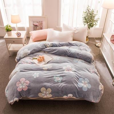 2018新品零静电雪花绒加厚法兰绒珊瑚绒法莱绒毛毯 1.2*2.0米 花城