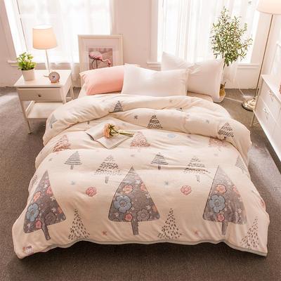 2018新品零静电雪花绒加厚法兰绒珊瑚绒法莱绒毛毯 1.2*2.0米 圣诞之恋