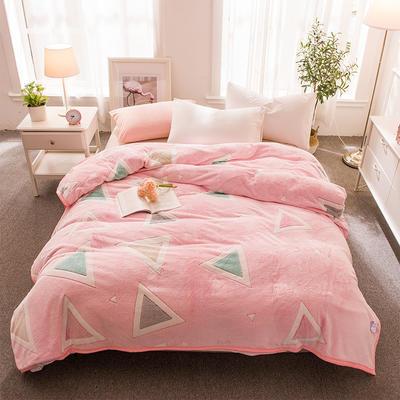 2018新品零静电雪花绒加厚法兰绒珊瑚绒法莱绒毛毯 1.2*2.0米 时尚几何
