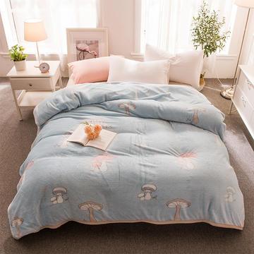 2018新品零静电雪花绒加厚法兰绒珊瑚绒法莱绒毛毯