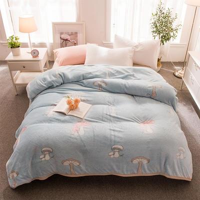 2018新品零静电雪花绒加厚法兰绒珊瑚绒法莱绒毛毯 1.2*2.0米 童年