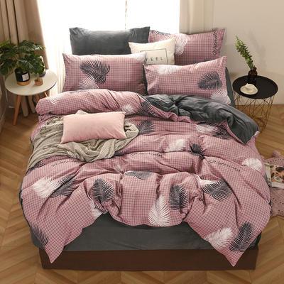 2019新款-棉加绒四件套 床单款三件套1.2m(4英尺)床 连理枝