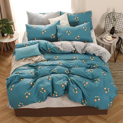 2019新款-棉加绒四件套 床单款三件套1.2m(4英尺)床 暖风