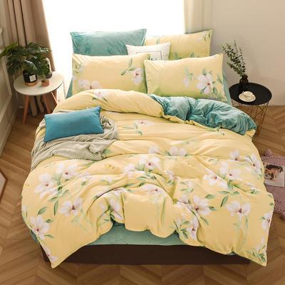2019新款-棉加绒四件套 床单款三件套1.2m(4英尺)床 瑶姬