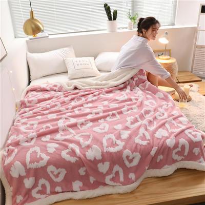 2019新款-舒棉绒双层复合羊羔绒毯 1.1*1.5米 安妮
