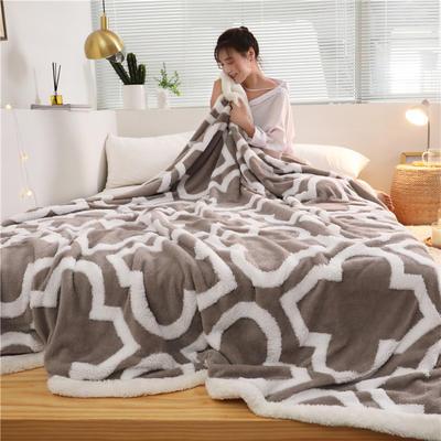 2019新款-舒棉绒双层复合羊羔绒毯 1.1*1.5米 伦纳德