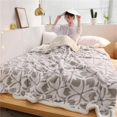 2019新款-舒棉绒双层复合羊羔绒毯 1.1*1.5米 欧文