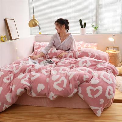 2019新款-提花舒棉绒四件套 床单款1.5m(5英尺)床 安妮