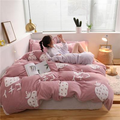 2019新款-提花舒棉绒四件套 床单款1.5m(5英尺)床 贝尔