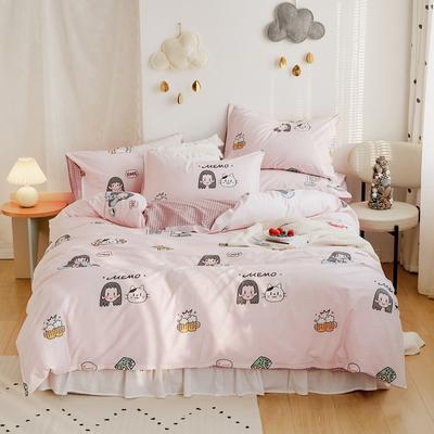 2020新款-全棉卡通四件套 床单款三件套1.2m(4英尺)床 爱酱