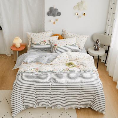 2020新款-全棉卡通四件套 床单款三件套1.2m(4英尺)床 彩虹桥