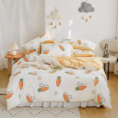 2020新款-全棉卡通四件套 床单款三件套1.2m(4英尺)床 胡萝卜