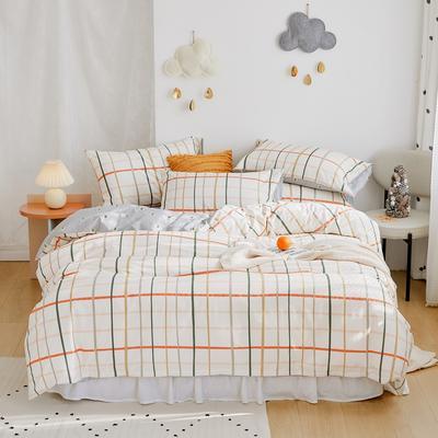 2020新款-全棉卡通四件套 床单款三件套1.2m(4英尺)床 简单生活