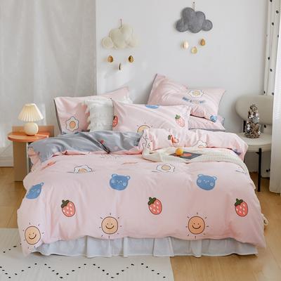 2020新款-全棉卡通四件套 床单款三件套1.2m(4英尺)床 美好生活