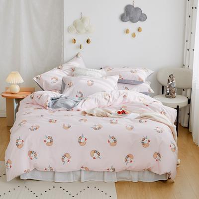 2020新款-全棉卡通四件套 床单款三件套1.2m(4英尺)床 木马