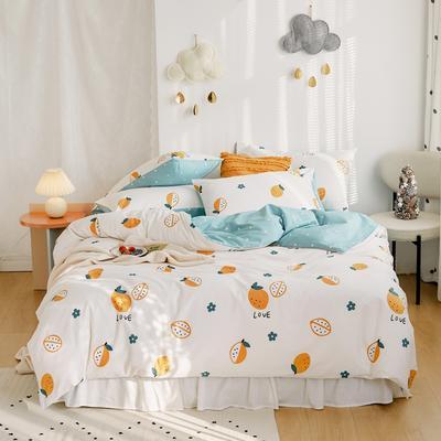 2020新款-全棉卡通四件套 床单款三件套1.2m(4英尺)床 柠檬酱果