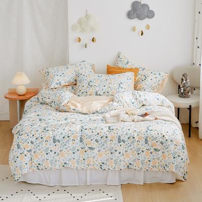 2020新款-全棉卡通四件套 床单款三件套1.2m(4英尺)床 清新柠檬