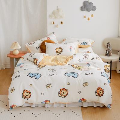 2020新款-全棉卡通四件套 床单款三件套1.2m(4英尺)床 森林王国
