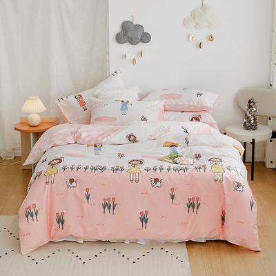 2020新款-全棉卡通四件套 床单款三件套1.2m(4英尺)床 少女情怀