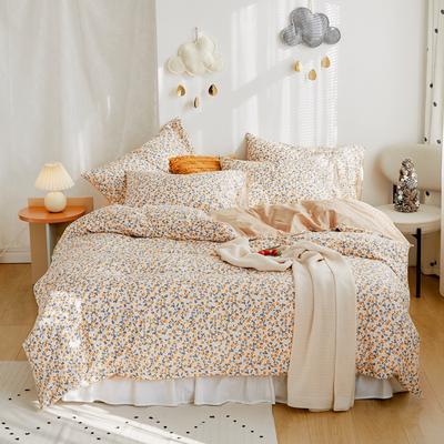 2020新款-全棉卡通四件套 床单款三件套1.2m(4英尺)床 水果花