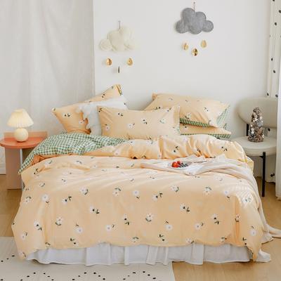 2020新款-全棉卡通四件套 床单款三件套1.2m(4英尺)床 小雏菊
