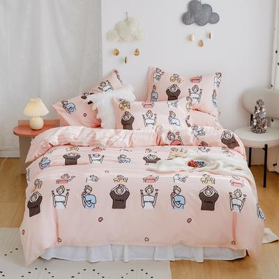 2020新款-全棉卡通四件套 床单款三件套1.2m(4英尺)床 小姐姐