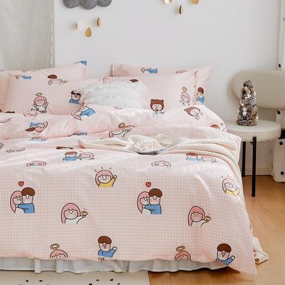 2020新款-全棉卡通四件套 床单款三件套1.2m(4英尺)床 小时光