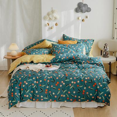 2020新款-全棉卡通四件套 床单款三件套1.2m(4英尺)床 樱桃派