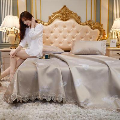 2020新款-床单款花边冰丝凉席 200*230cm 一羽霓裳