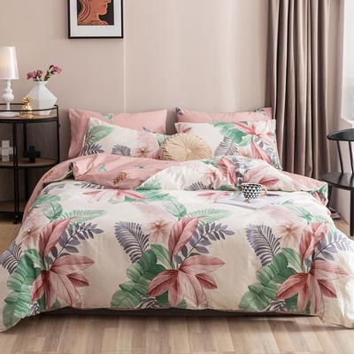 2020新款-春夏秋冬花卉全棉四件套 床单款三件套1.2m(4英尺)床 浮沉